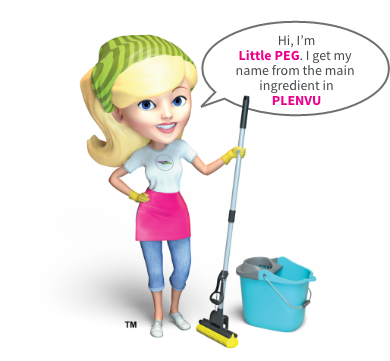 illustration of woman standing proudly with a mop and bucket